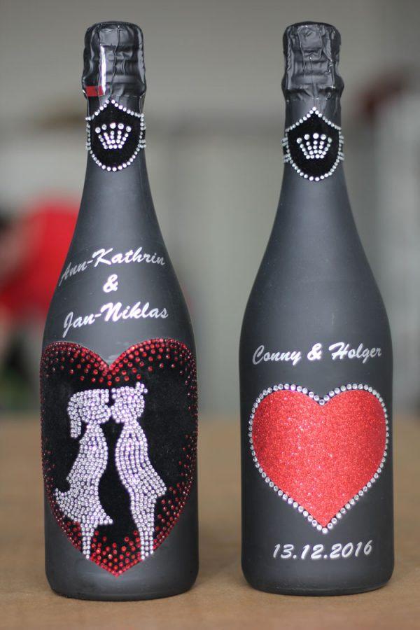 Sonderlackierung Weinflasche
